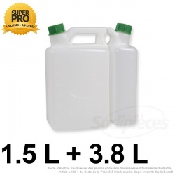 Bidon 1,5 litres + 3,8 litres
