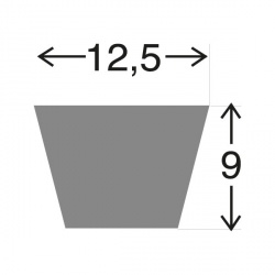 Courroie 17295C . 12.5 x  750 LA