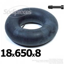 Chambre à air 18 x 650 x 8 valve droite