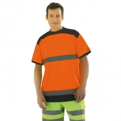 T shirt orange fluo taille L