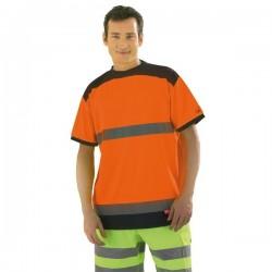 T shirt orange fluo taille L