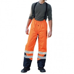Pantalon de pluie orange taille M