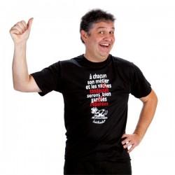 """T-shirt. """"A chacun son métier et les ...""""  Homme Taille XL"""