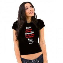 """T-shirt """"Désolé faut que je tonde, j'ai..."""" Femme Taille M"""