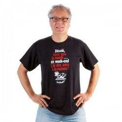"""T-shirt """"Désolé faut que je tonde, j'ai..."""" Homme Taille XL"""