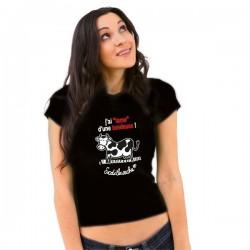 """T-shirt : """" J'ai lame d'une tondeuse... !"""" Femme Taille S"""