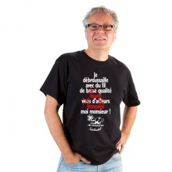 """T-shirt : """"Je débroussaille avec du fil... """" Homme Taille L"""