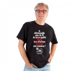 """T-shirt : """"Je débroussaille avec du fil... """" Homme Taille XL"""