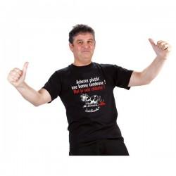 """T-shirt """"Achetez plutôt une bonne..."""" Homme Taille XL"""