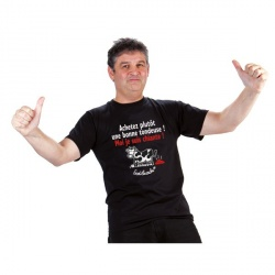 """T-shirt """"Achetez plutôt une bonne...""""  Homme Taille XXL"""