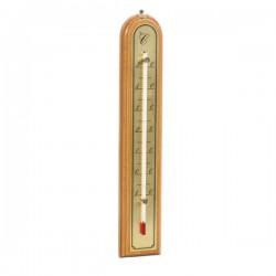 Thermomètre bois chene , doré luxe. 26 cm