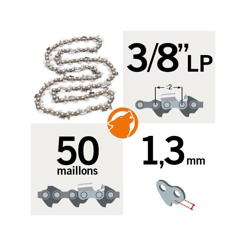 Chaîne tronçonneuse KERWOOD 50 maillons 3 8LP, 1,3mm 9dc4560ae14