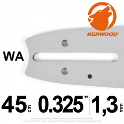 "Guide Kerwood. 45 cm, 0,325"". 1,3 mm. 18C2KLWA"
