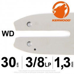 "Guide KERWOOD. 30cm 3/8"" LP. 1.3 mm. 12B2KCWD"