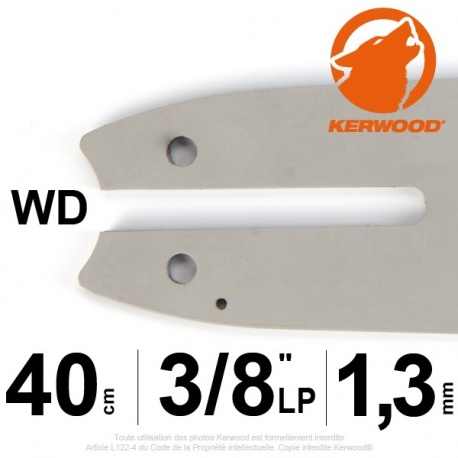 "Guide KERWOOD .40cm 3/8"" LP. 1.3 mm. 16B2KCWD"
