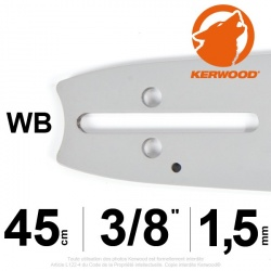 "Guide Kerwood. 45 cm, 3/8"". 1,5 mm. 18A3KLWB"