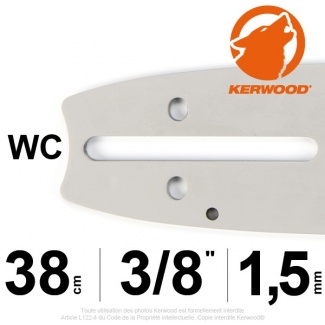"Guide tronçonneuse Kerwood. 38cm. 3/8"". 1,5 mm.15A3KSWC"