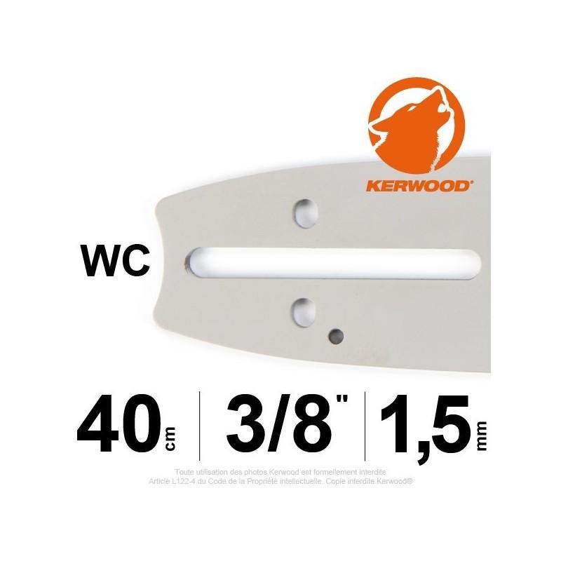 """Guide KERWOOD. 40cm 3/8"""". 1.5 mm. 16A3KSWC."""