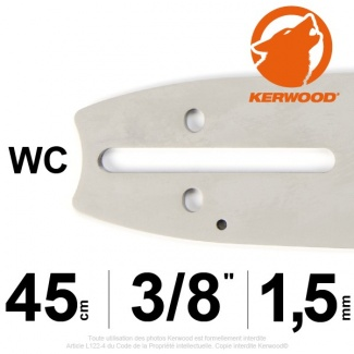 "Guide tronçonneuse Kerwood. 45cm. 3/8"". 1,5 mm.18A3KSWC"