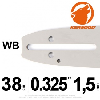 Guide tronçonneuse Kerwood. 38cm. 0,325. 1,5 mm. 15C3KSWB