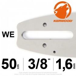 "Guide tronçonneuse KERWOOD. 50cm 3/8"". 1.6 mm. 20A4KLWE"