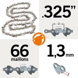 """Chaîne tronçonneuse KERWOOD 66 maillons 0,325"""", 1,3mm"""