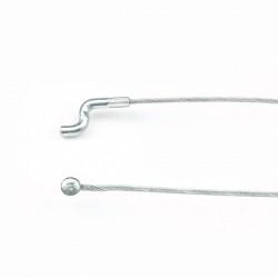 Cable souple diam 1,9 mm. L : 2 m . Tête 6,4 mm et Z diam 4 mm