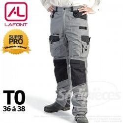 Pantalon tissu léger Gris / Noir