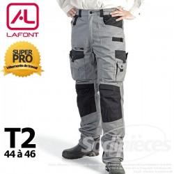 Pantalon tissu léger Gris / Noir taille2