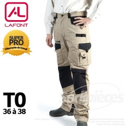Pantalon tissu léger Beige / Noir taille 0