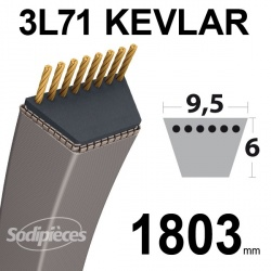 Courroie 3L71 Kevlar Trapézoïdale. 9,5 mm x 1803 mm.