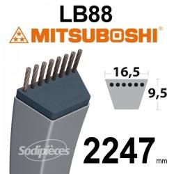 Courroie LB88 Mitsuboshi. 16,5 mm x 2247 mm.