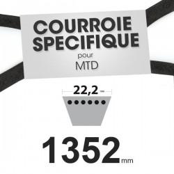 Courroie spécifique MTD 7540358. 22,2 mm x 1352 mm.