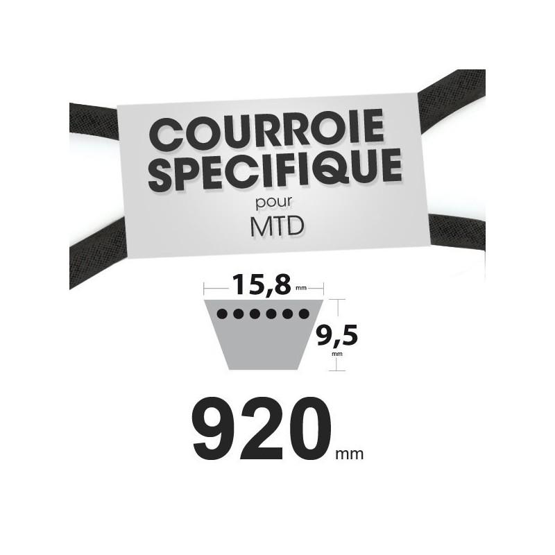 courroie sp cifique mtd 754 0453 15 8 mm x 920 mm. Black Bedroom Furniture Sets. Home Design Ideas