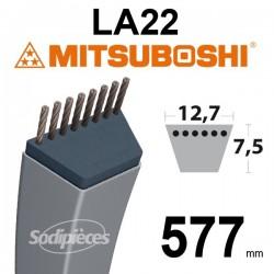 Courroie LA22 Mitsuboshi. 12,7 mm x 577 mm.