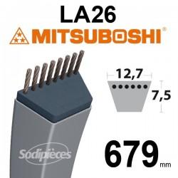 Courroie LA26 Mitsuboshi. 12,7 mm x 679 mm.