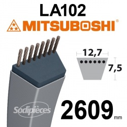 Courroie LA102 Mitsuboshi. 12,7 mm x 2609 mm.