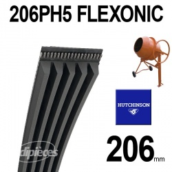 Poly-V Elastique FLEXONIC 206PH5