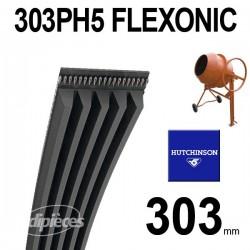 Poly-V Elastique FLEXONIC 303PH5