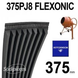 Poly-V Elastique FLEXONIC 375PJ8