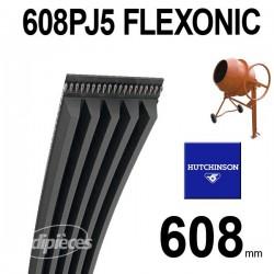 Poly-V Elastique FLEXONIC 608PJ5