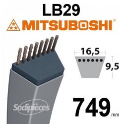 Courroie LB29 Mitsuboshi. 16,5 mm x 749 mm.