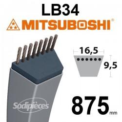 Courroie LB34 Mitsuboshi. 16,5 mm x 875 mm.