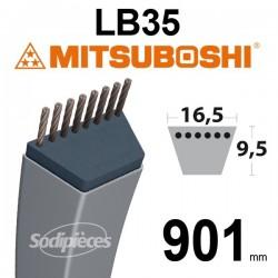 Courroie LB35 Mitsuboshi. 16,5 mm x 901 mm.