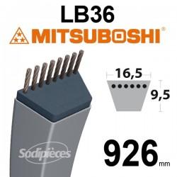 Courroie LB36 Mitsuboshi. 16,5 mm x 926 mm.