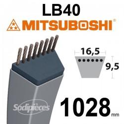 Courroie LB40 Mitsuboshi. 16,5 mm x 1028 mm.