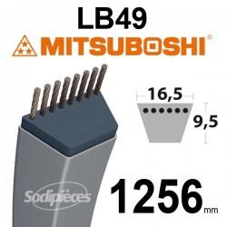 Courroie LB49 Mitsuboshi. 16,5 mm x 1256 mm.