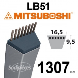 Courroie LB51 Mitsuboshi. 16,5 mm x 1307 mm.