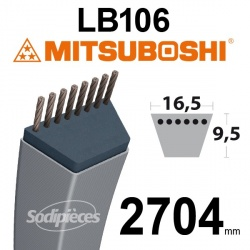 Courroie LB106 Mitsuboshi. 16,5 mm x 2704 mm.