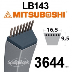 Courroie LB143 Mitsuboshi. 16,5 mm x 3644 mm.